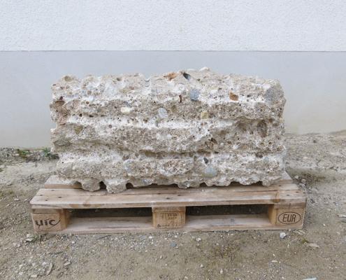 Quaderstein Naturstein Nagelfluh 40 cm