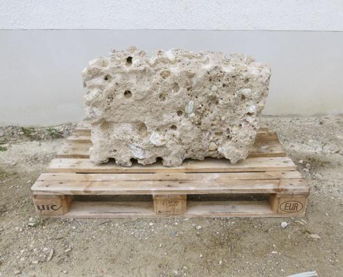 Nagelfluh Mauerstein, Höhe 40 cm