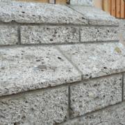 Naturstein Werksteinmauer aus Nagelfluh