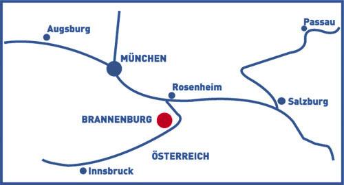 Lagekarte zu Nagelfluhwerk Grad in 83098 Brannenburg