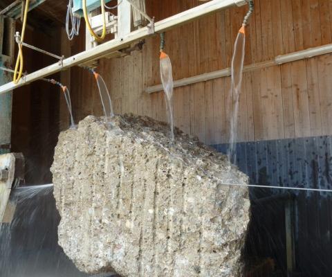 Diamant-Blockseilsäge für bis zu 3,30m breite und 1,95m hohe Steinblöcke